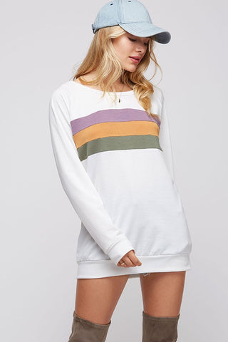 White Mardi Gras Stripe Shirt