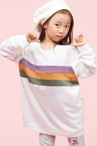 Kids White Mardi Gras Stripe Top