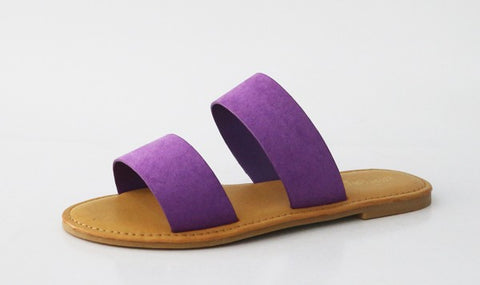 Purple Double Take Sandals