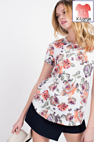 Floral Fever Scoop Neck Tee
