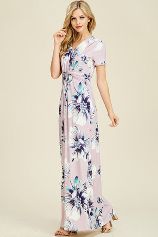 df2db15689b Lovable in Lilac Twist Detail Maxi Dress