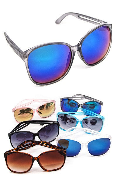 Trendy Shade Reflector Sunglasses