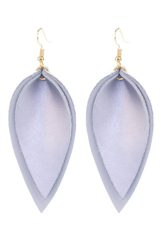 Double Take Teardrop Faux Leather Earrings