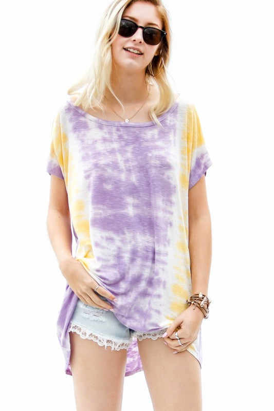 Game Day Tie Dye Top