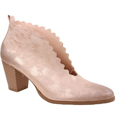 Rose Gold Shimmer Addison Booties