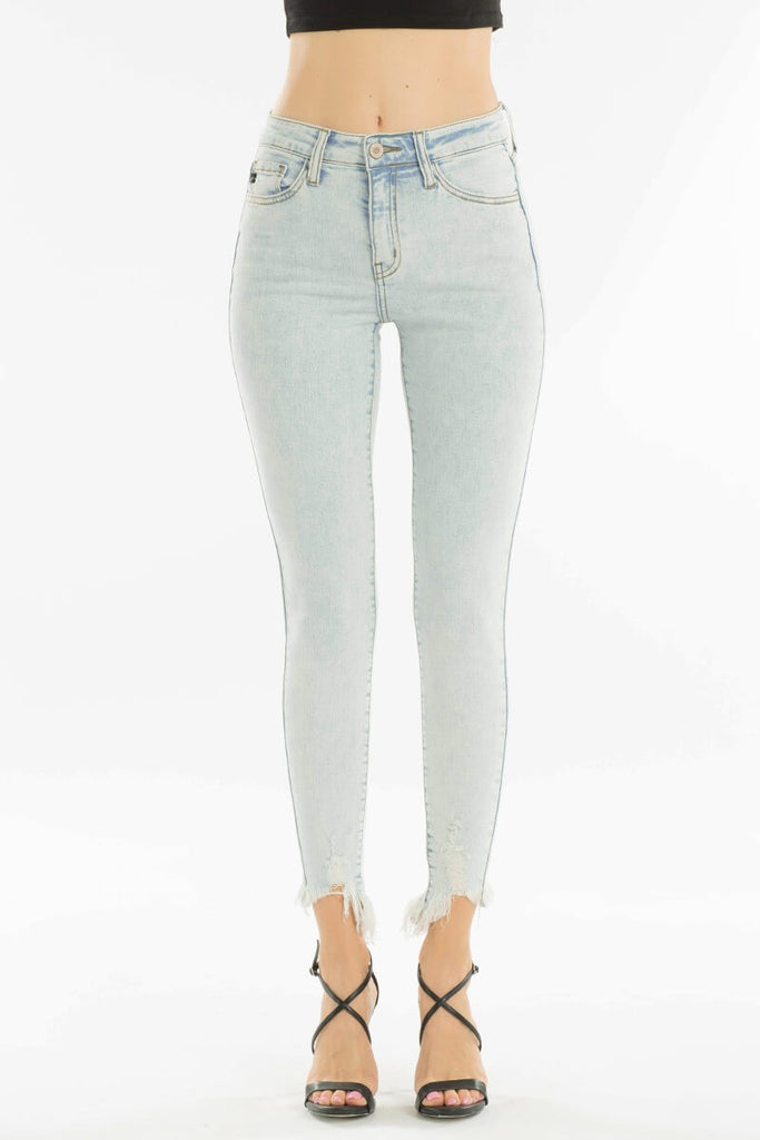 Lovely and Light Fray Bottom Jeans