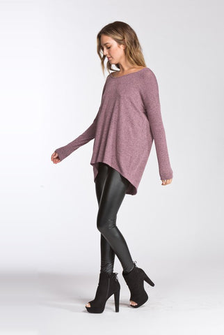 Dusty Mauve Cross Back Detail Top