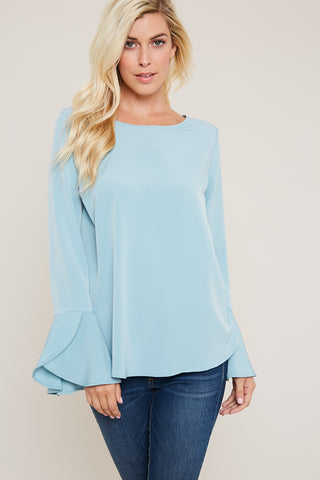 Baby Blue Ruffles For You Top