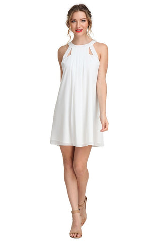 Cut Out Cutie Off White Dress