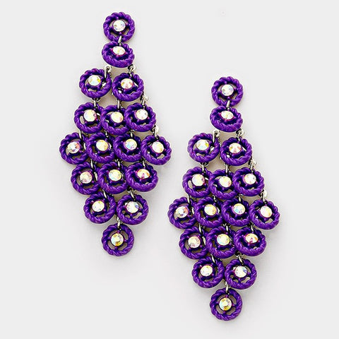 Purple Cascade Earrings
