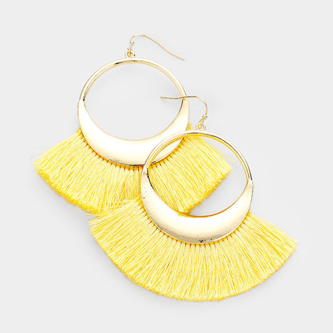 Festive Fan Tassel Earrings