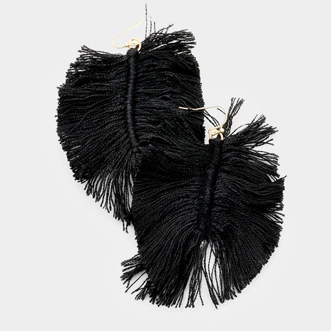 Fantastic Fan Feather Earrings