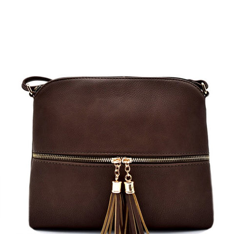 Medium Crossbody Faux Leather Purse