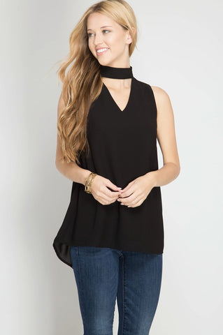 Black Dressy Sleeveless Tank