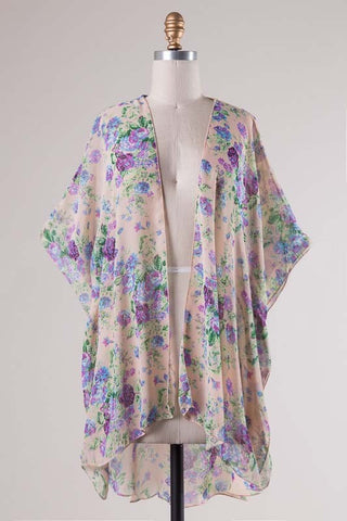 Blooming Orchids Floral Cardigan
