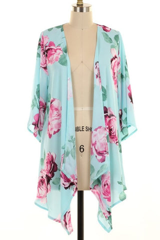 Mint to Be Floral Cardigan