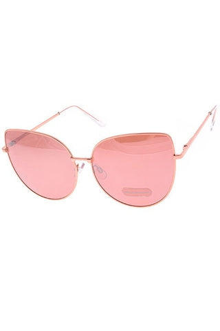 Rose Gold Big Eyes Sunglasses