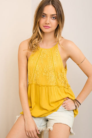 Honey Lace Detail Tank