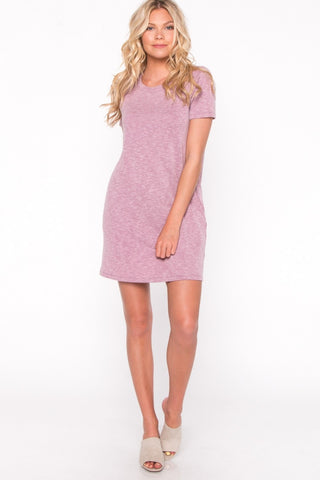 Dark Mauve Cozy Pocket Dress