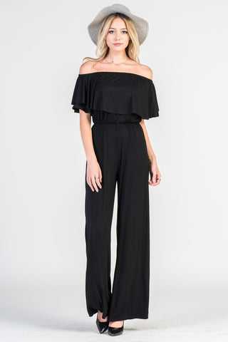 City Girl Black Knit Jumpsuit