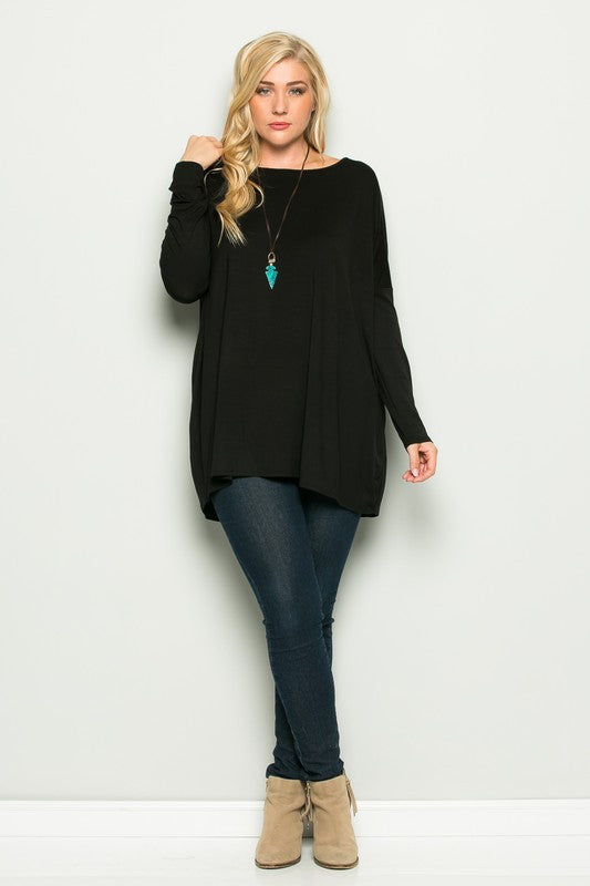 Plus Size Solid Tops