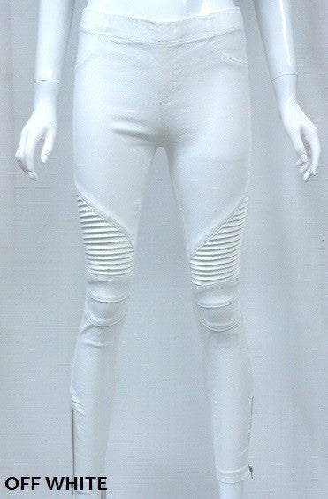 Off White Moto Jeggings