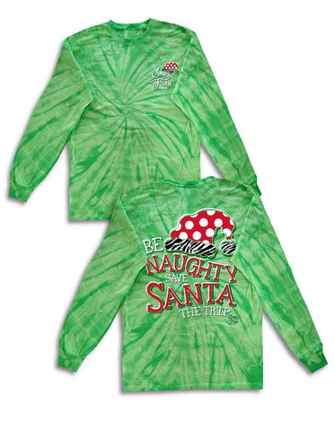 """Be Naughty, Save Santa the Trip"" Tee"