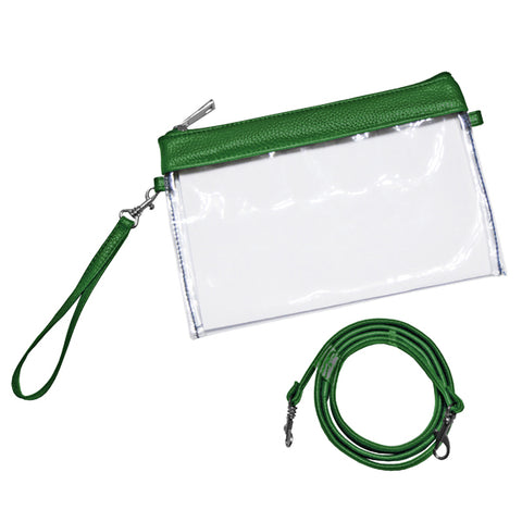 Small Green Clear Gameday Pouch