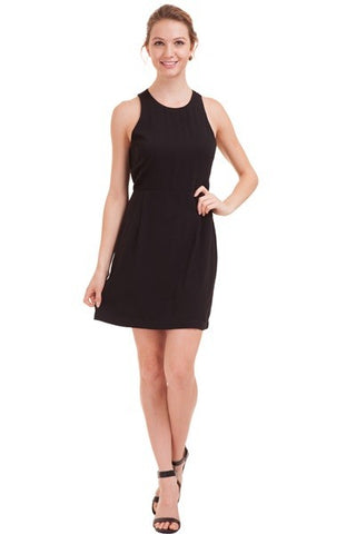 Black Peek-A-Boo Back Dress