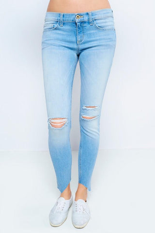 Light Wash Crazy Cut Denim