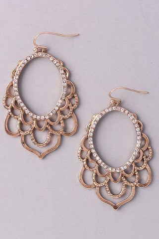 Antique Gold Flourish Earrings