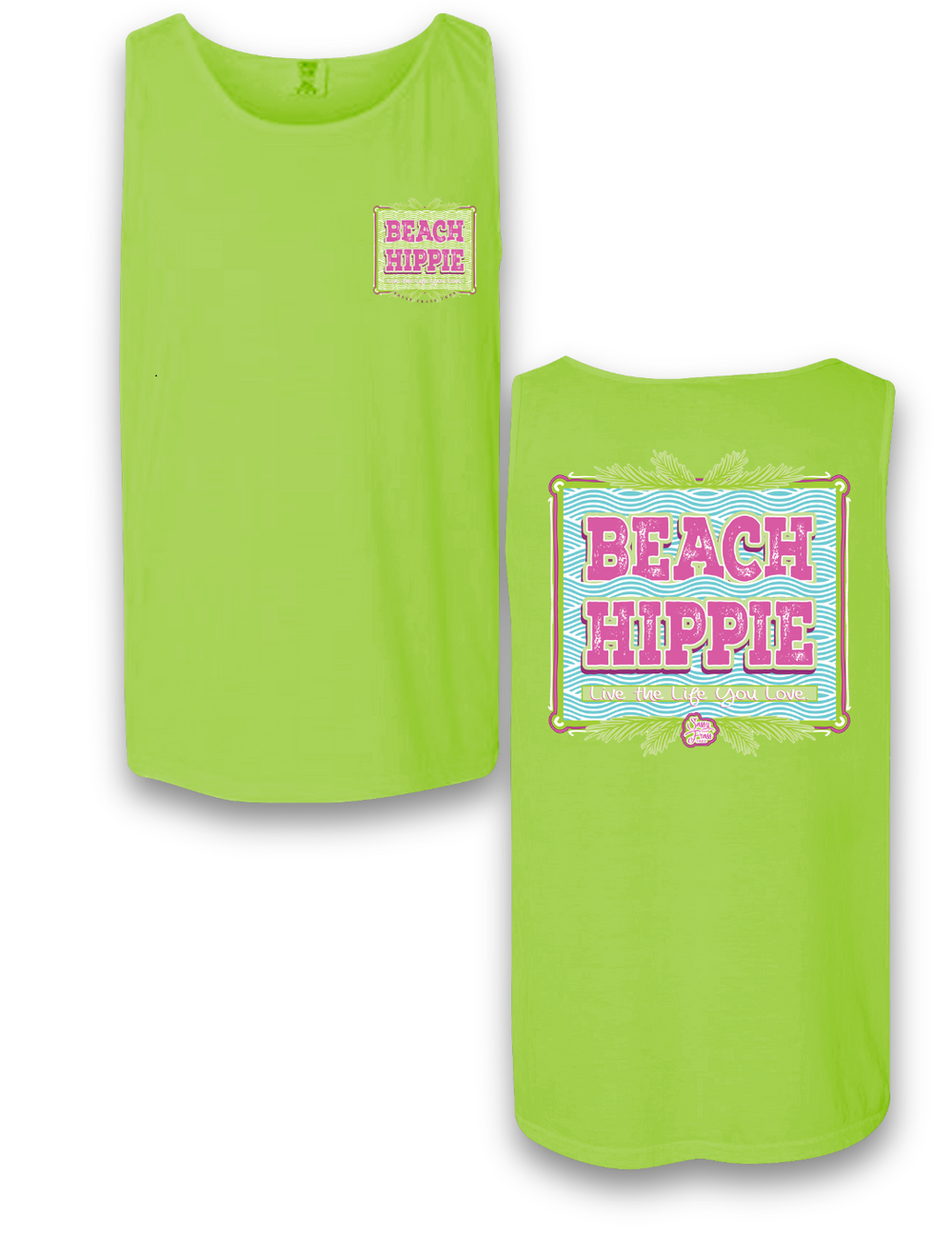 """Beach Hippie"" Comfort Colors Tank"
