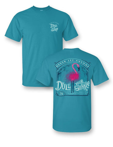 """GLITTER FLAMINGO"" NEVER LET ANYONE DULL YOUR SPARKLE TEE (YOUTH)"