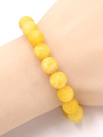 Yellow Cloud Bead Bracelet