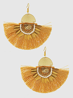 Fun Fan Fringe Earrings