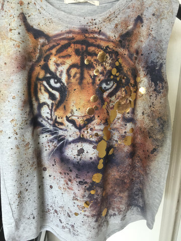 Grey Confetti Tiger Tank