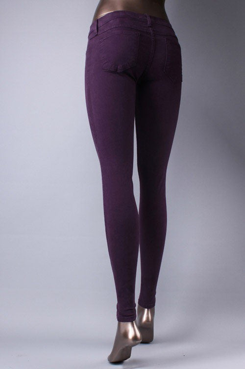 Plum Colored Skinny Jeans Hazel And Bliss Boutique