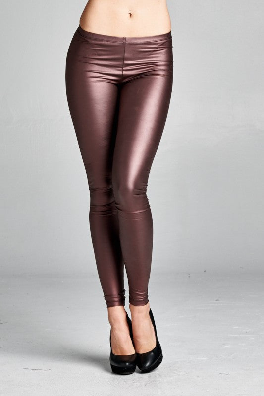 Shiny Purple Leggings