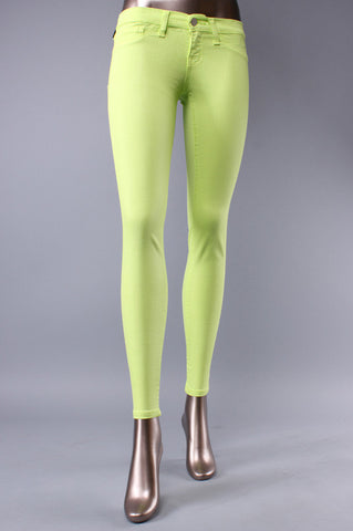 Neon Lime Skinny Jeans
