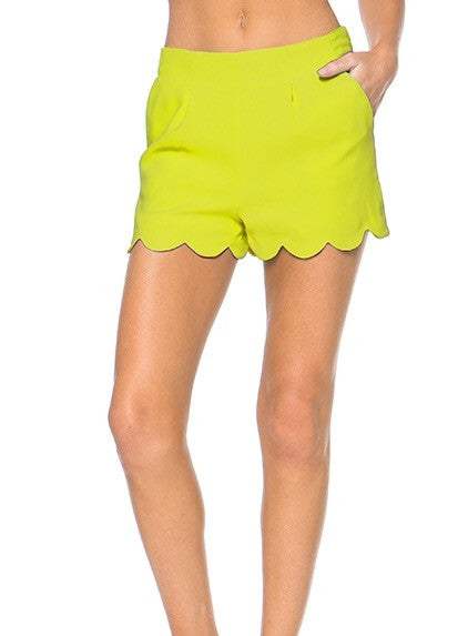 Dressy Scalloped Shorts