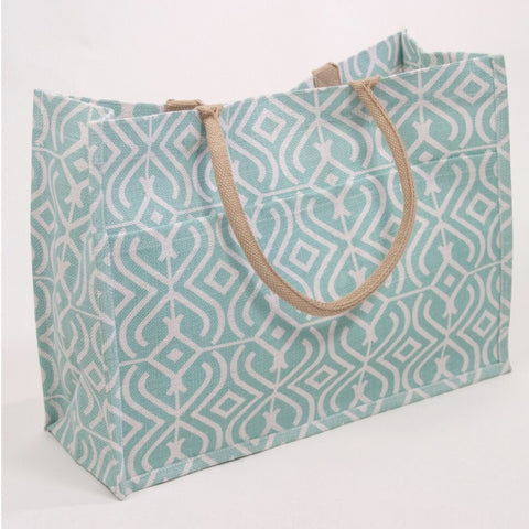 Large Jute Pocket Tote