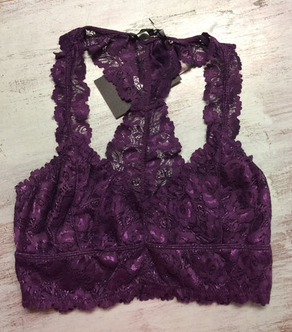 Purple Lace Bra Top