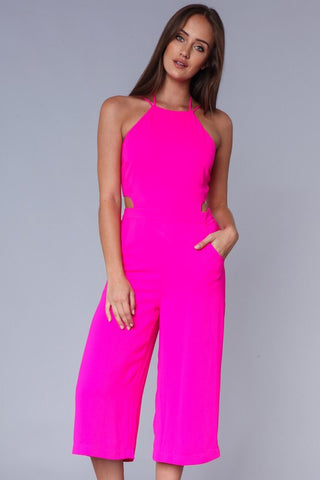 Dazzle Me Hot Pink Jumpsuit