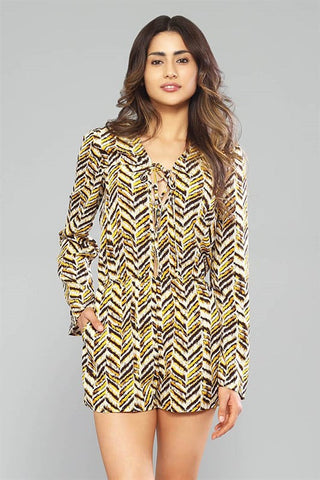 Gold Animal Print Romper
