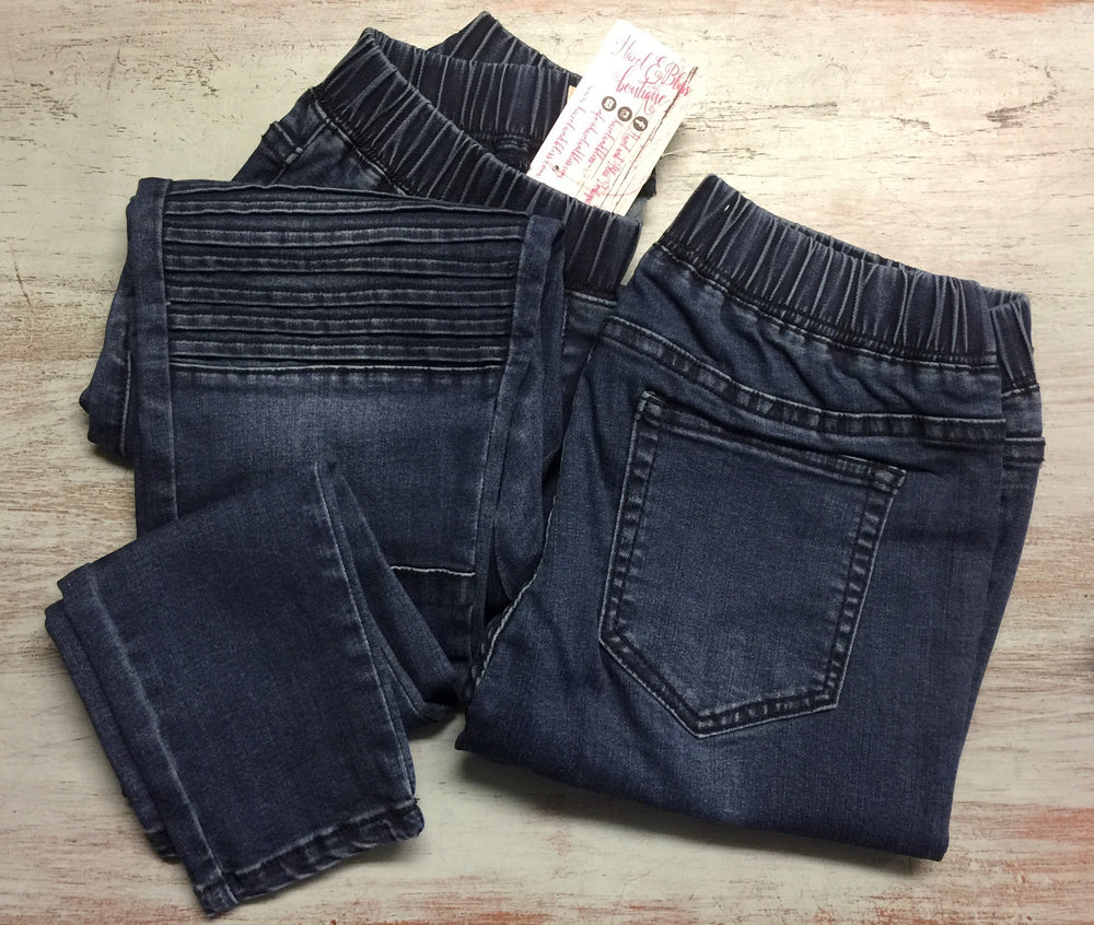 Medium Wash Denim Moto Jeggings