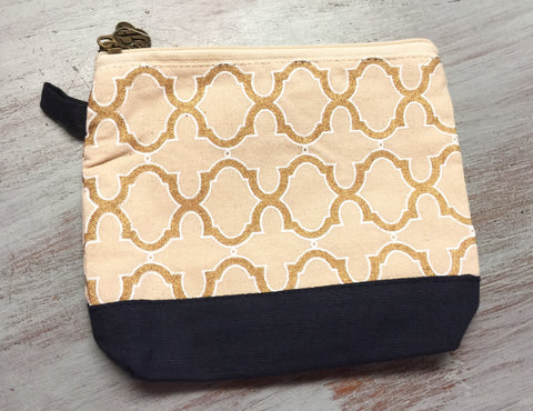 Cayman Navy/Gold Cosmetic Bag