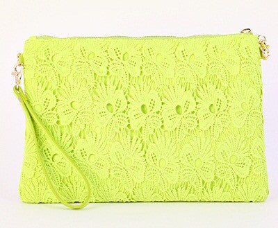 Neon Lime Crochet Pattern Clutch