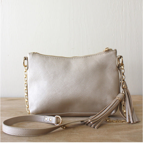 Eva Gold Crossbody Purse