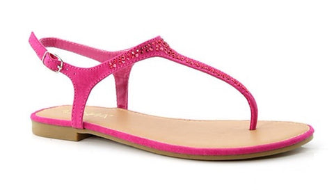 Hot Pink Rhinestone Sandals