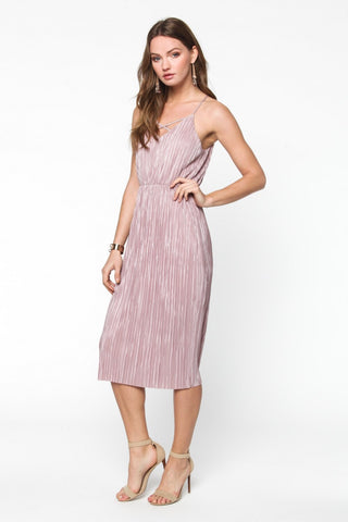 Bashful in Blush Crepe Dress